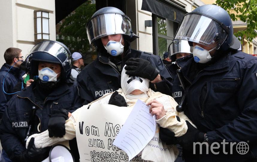 Акция протеста в Берлине. Фото Getty