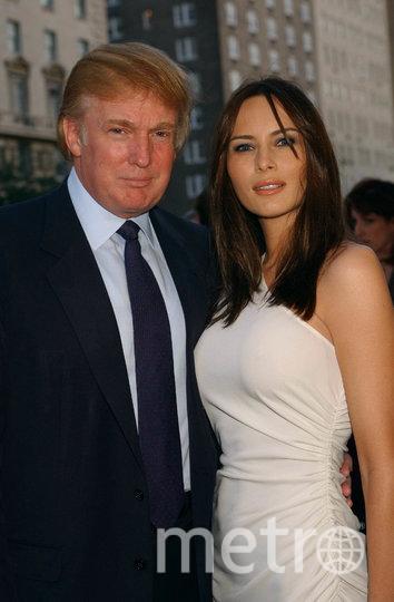 Дональд Трамп и Мелания Кнавс, 2001 год. Фото Getty