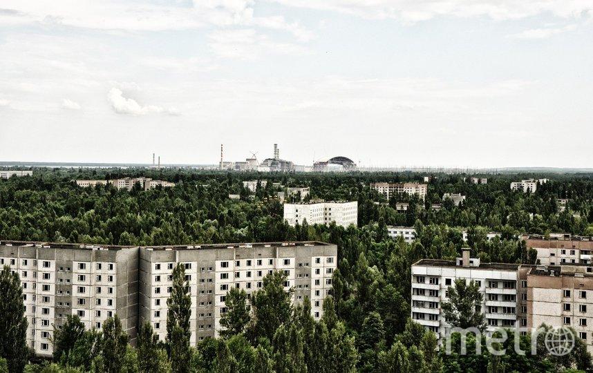 Вид на ЧАЭС из Припяти. Фото pixabay