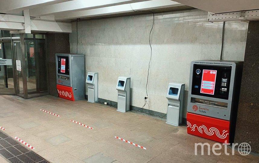На станциях Московского метрополитена начали устанавливать автоматические санитайзеры. Фото пресс-служба столичного департамента транспорта   telegram-канал @DtRoad