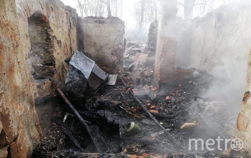 Фото с места пожара. Фото СК РФ по Ленинградской области