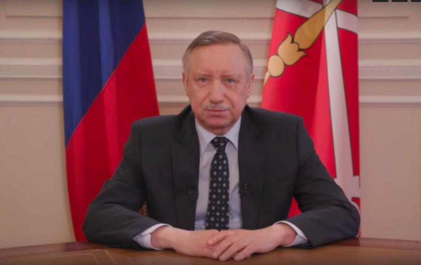 Александр Беглов записал новое обращение к петербуржцам. Фото Скриншот Youtube
