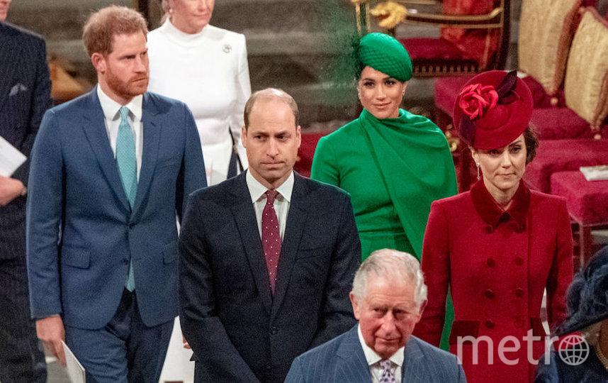 Меган Маркл и Кейт Миддлтон во время последнего официального мероприятия герцогов Сассекских в качестве членов королевской семьи. Фото Getty