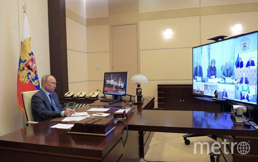 Владимир Путин 28 апреля пообщается с регионами и обратится к россиянам. Фото AFP
