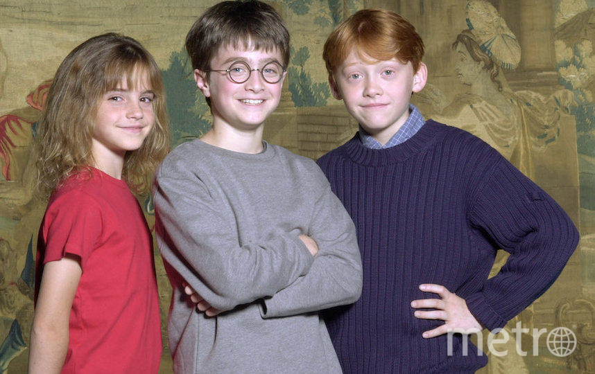 """Эмма Уотсон и партнёры по """"Гарри Поттеру"""" в детстве. Фото Getty"""