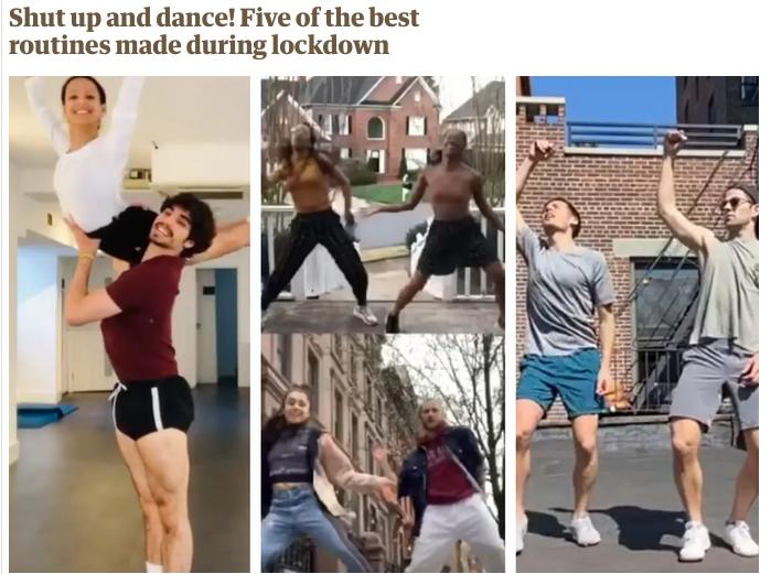 Топ-5 балетных видео, созданных во время изоляции по версии The Guardian. Фото Скриншот heguardian.com