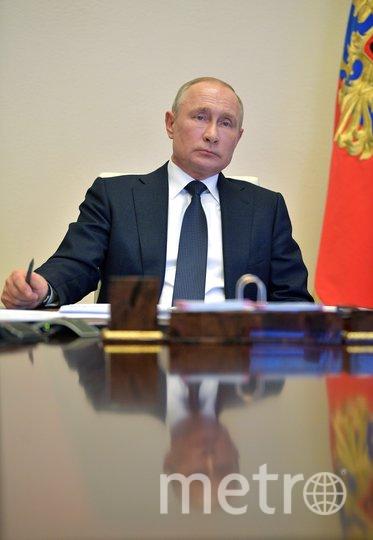 Владимир Путин во время совещания с регионами. Фото AFP
