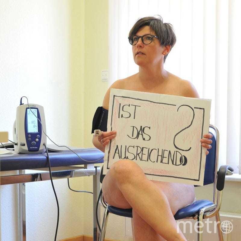 Врачи разделись, чтобы заявить о проблеме. Фото blankebedenken.org