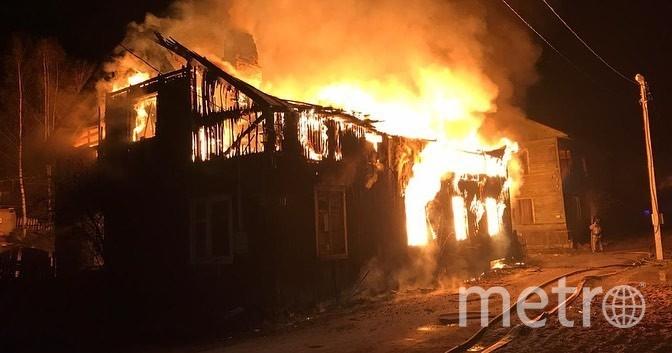 Фото с места пожара в Выборге. Фото vk.com