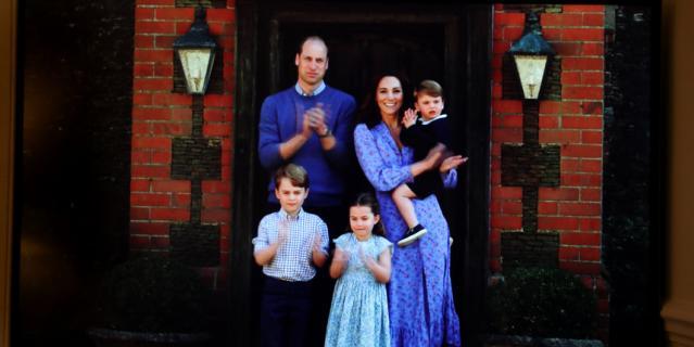 Семья Кейт Миддлтон и принца Уильяма в апреле 2020.