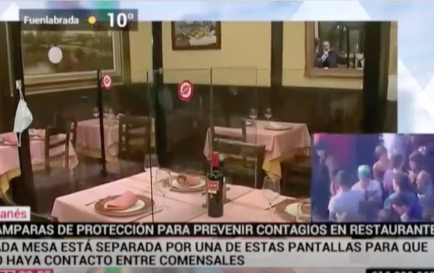 """Испанские журналисты тестируют нововведение. Фото кадр из репортажа, выложенного на youtube- канале TVL, """"Metro"""""""