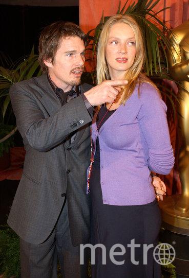 Ума с мужем Итаном Хоуком. Фото Getty