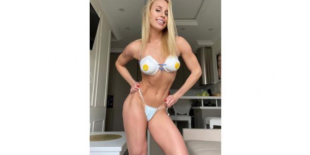 Фитнес-тренер и модель Юлия Ушакова.