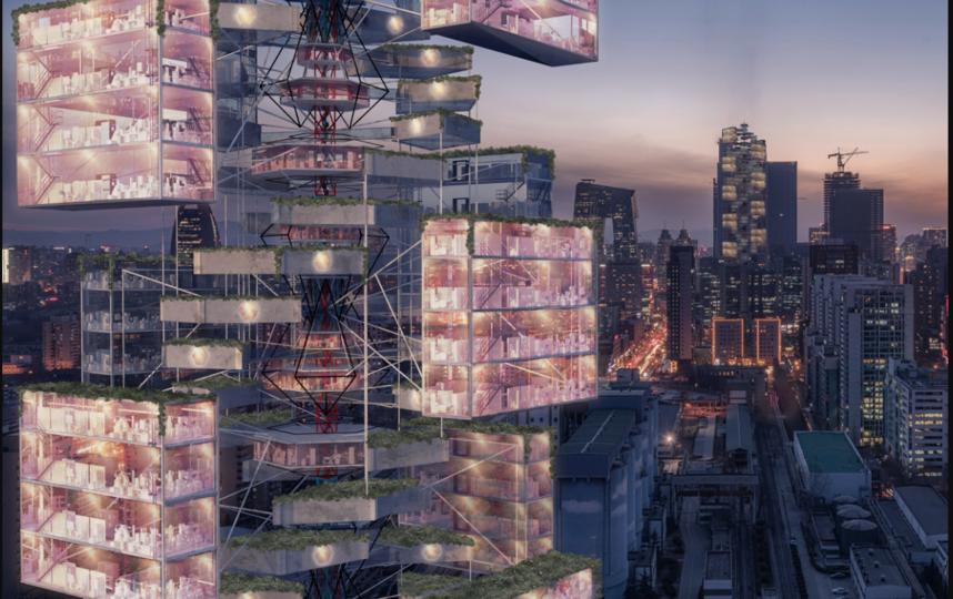 """Эпидемическая Вавилонская башня: небоскрёб скорой помощи. Фото http://www.evolo.us/, """"Metro"""""""