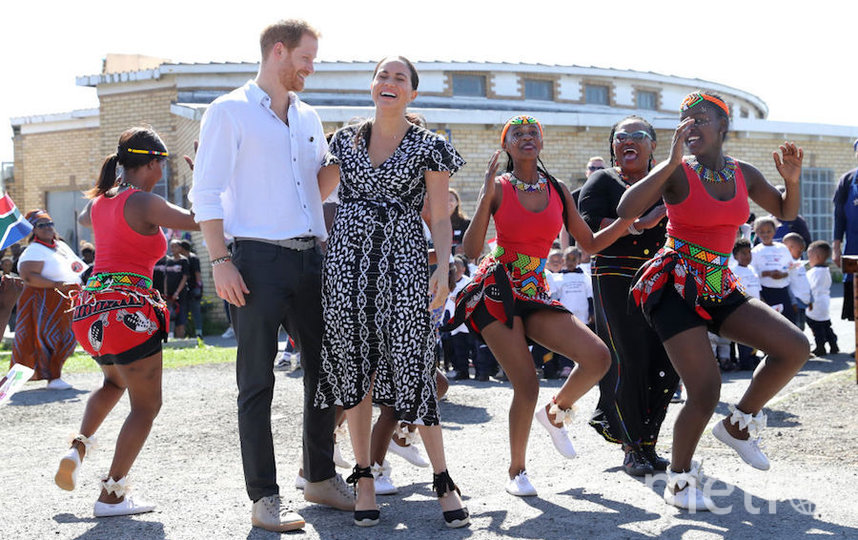 Меган Маркл и принц Гарри во время поездки в Южную Африку. Фото Getty