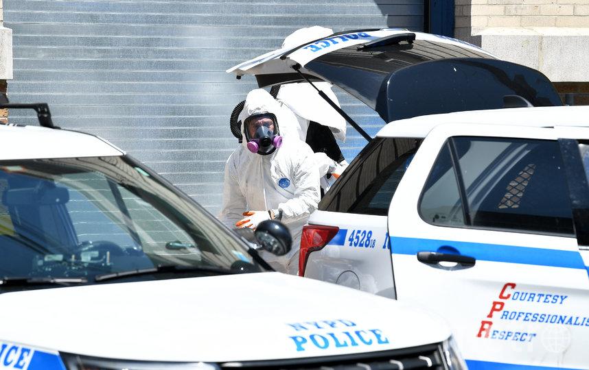 Полиция Нью-Йорка обнаружила тела 60 человек в четырех грузовиках. Фото AFP
