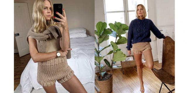 Блогерам удалось внести ясность в вопрос – куда носить вязаные шорты.