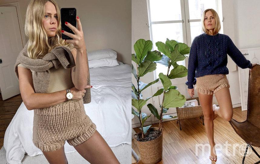 Блогерам удалось внести ясность в вопрос – куда носить вязаные шорты. Фото instagram.com/wethepeoplestyle