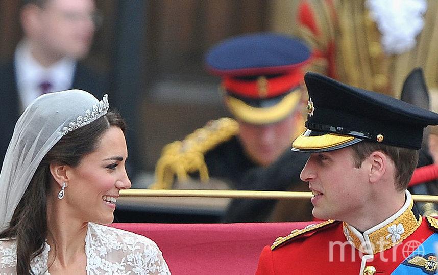 Кейт Миддлтон и принц Уильям в день свадьбы. Фото Getty