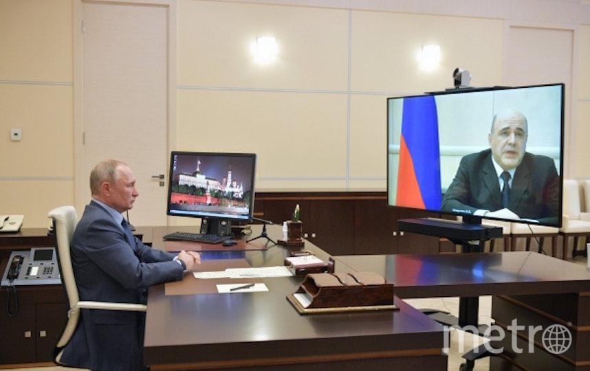 Михаил Мишустин на онлайн-совещании с Путиным сообщил, что заболел коронавирусом. Фото РИА Новости