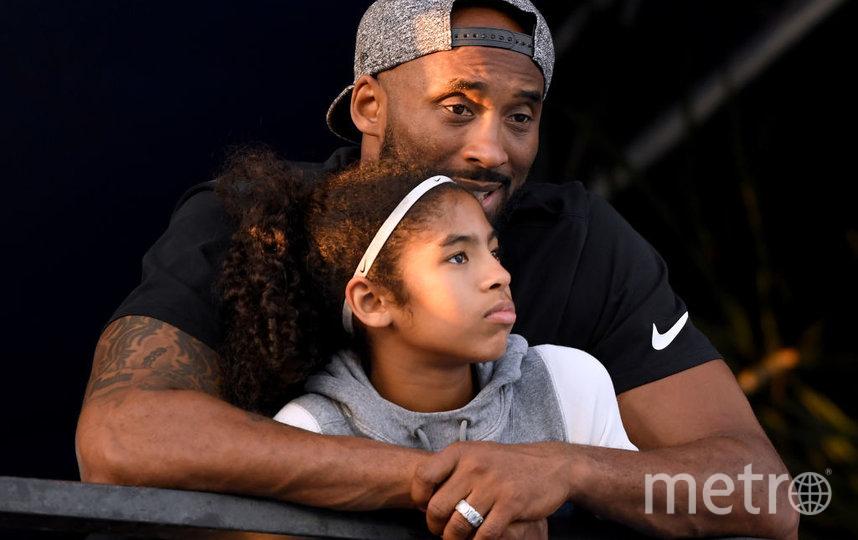 Коби Брайант с дочерью Джанной. Фото Getty