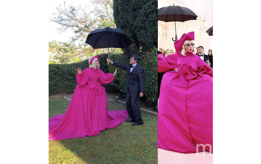 В 2019 году Леди Гага эпатировала гостей своим пышным нарядом, под которым оказалось ещё три других, которые она сменила прямо на красной дорожке. Фото instagram.com/crescentshay
