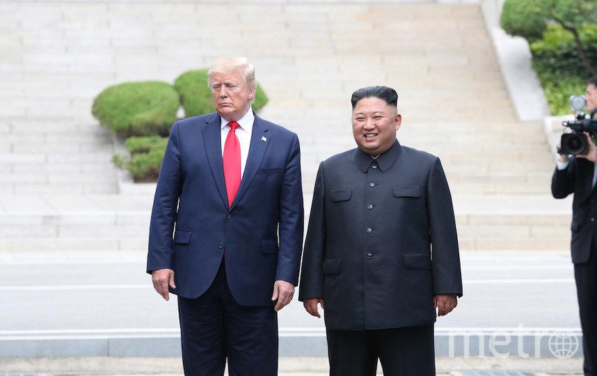 Ким Чен Ын на встрече с Дональдом Трампом в июне 2019 года. Фото AFP