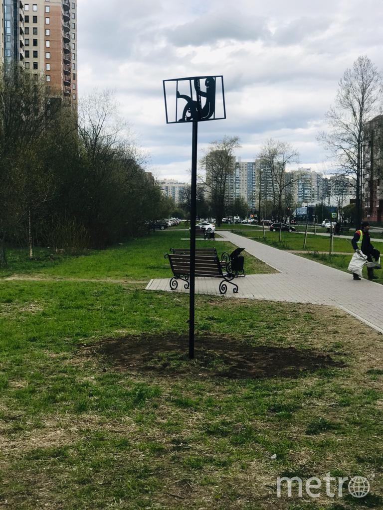 Арт-объект переехал на улицу Верности. Фото gov.spb.ru