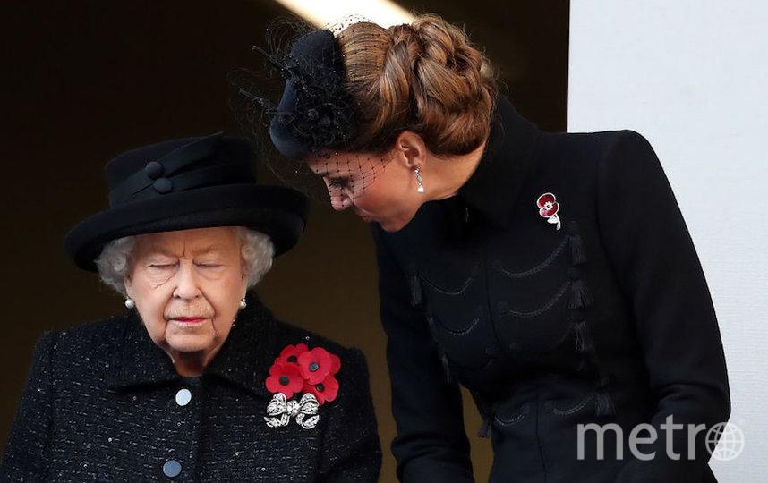 Королева Елизавета II и Кейт Миддлтон. Фото Getty