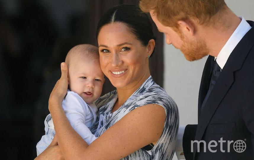 Меган Маркл с сыном Арчи и с Гарри. Фото Getty