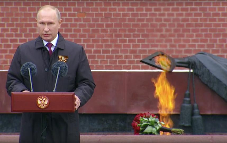 Владимир Путин обратился к россиянам по случаю Дня Победы. Фото скриншот РИА Новости