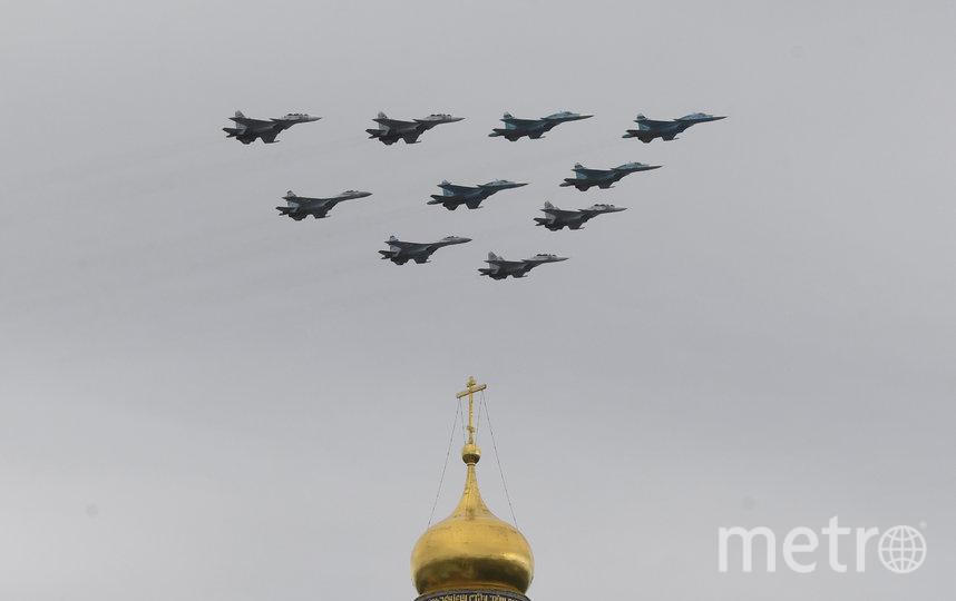 Пролёт авиации над Москвой в честь Дня Победы. Фото AFP