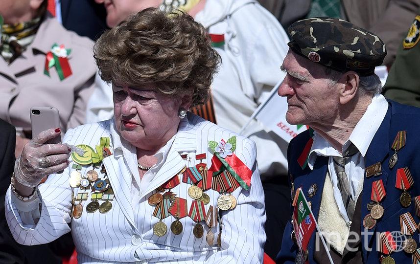 Ветераны на Параде Победы в Минске. Фото AFP