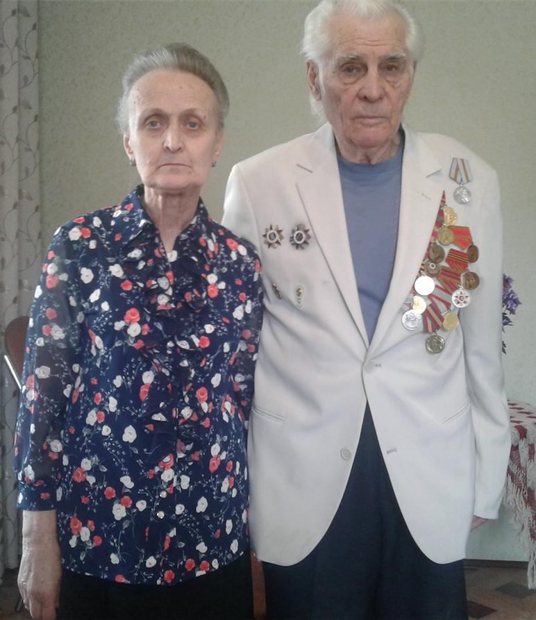 Владислав Федорович со своей супругой Марией Ивановной Горшковой. 9 мая 2020 г. Фото Из семейного архива