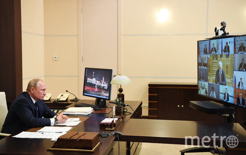 Президент РФ Владимир Путин провёл онлайн-совещание. Фото AFP