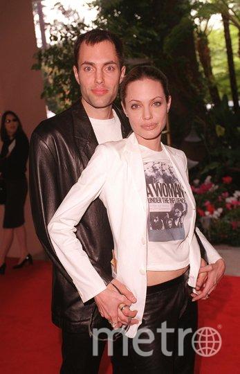 Анджелина Джоли с братом Джеймсом. Фото Getty