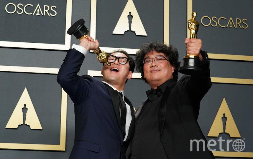 """Создатели корейской ленты """"Паразиты"""", которую назвали лучшим фильмом. Фото Getty"""