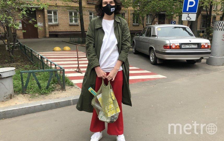 """Перед первым за два месяца выходом в магазин Катя забыла перчатки, но их выдали на месте. Фото Мария Беленькая, """"Metro"""""""