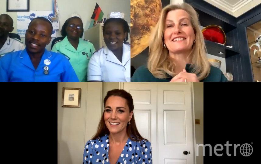 Кейт Миддлтон и Софи Уэссекская позвонили в больницы семи стран, чтобы пообщаться с медработниками. Фото AFP