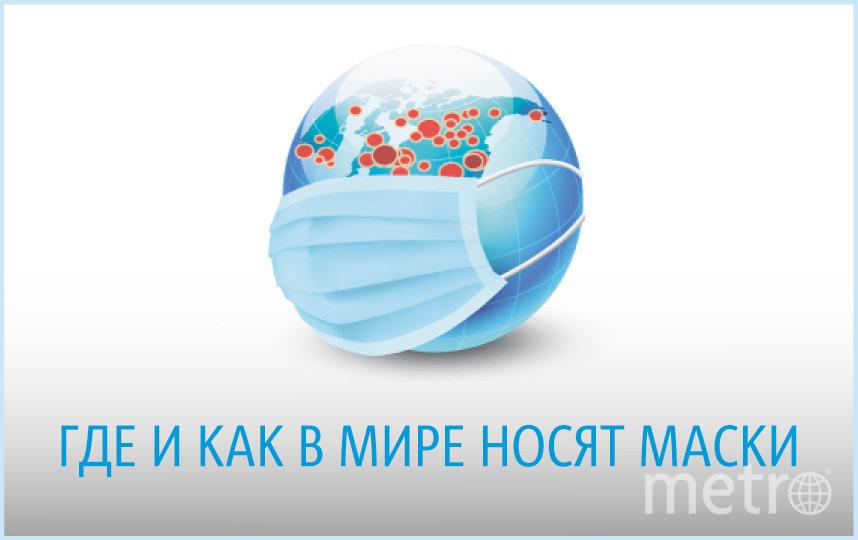 """""""Масочный режим"""" распространяется по планете вслед за коронавирусом. Фото Инфографика: Павел Киреев, """"Metro"""""""