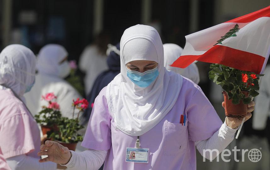Медсестра в Ливане. Фото AFP