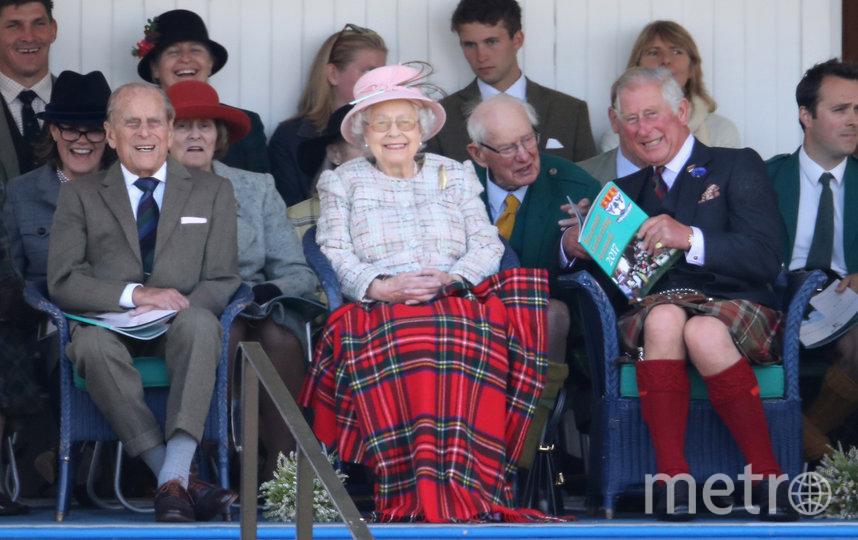 Филипп, герцог Эдинбургский, Королева Елизавета II и Чарльз, принц Уэльский. Фото Getty, Getty