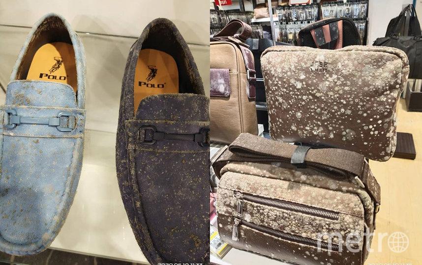 Среди товаров можно заметить такие бренды как Polo Ralph Lauren и Camel Active, а значит сумма ущерба для магазина будет довольно существенная. Фото facebook.com/Nex001