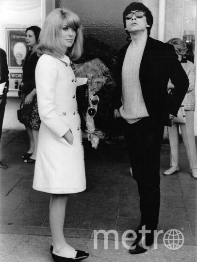 Катрин Денёв с мужем Дэвидом Бейли. Фото Getty