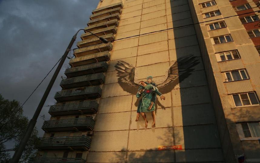 Уличные художники поздравили медицинских сестер с праздником. Фото пресс-служба Одинцовского г. о.