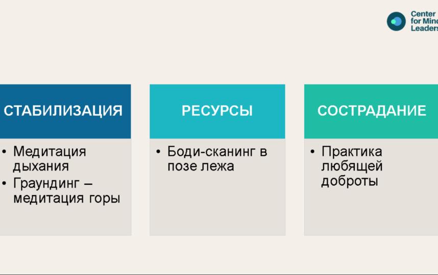 """Четыре упражнения для снижения тревоги. Фото из вебинара на YouTube-канале """"Университет Правительства Москвы"""", Скриншот Youtube"""