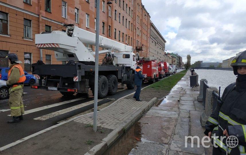 Фото с места происшествия. Фото Предоставлено пресс-службой МЧС Санкт-Петербурга