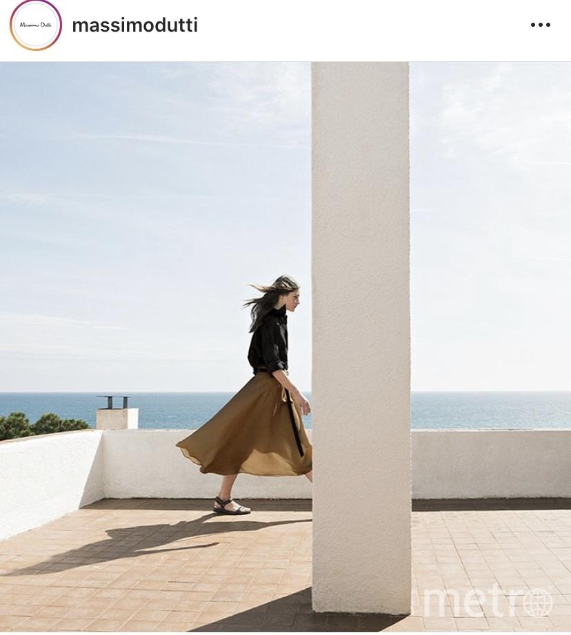 Модель massimodutti. Фото скиншот Instagram massimodutt