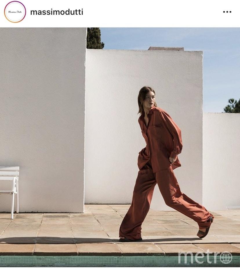 Модель бренда massimodutti. Фото скиншот Instagram massimodutt