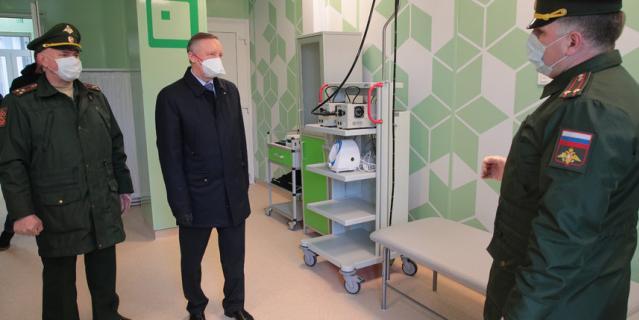 В Пушкине открыт временный госпиталь Минобороны для лечения пациентов с COVID-19.